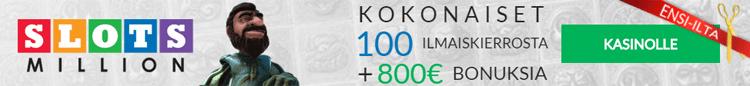 Slotsmillion NetEnt bonus