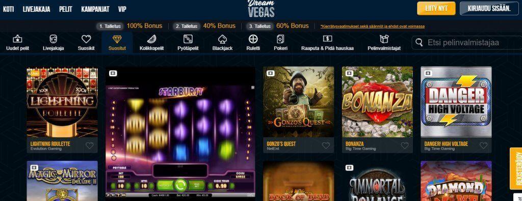 Dream Vegas pelit