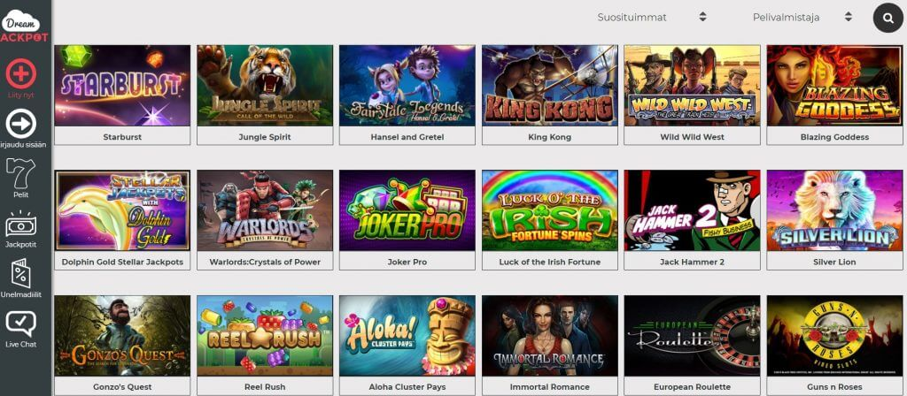 Dreamjackpot Casino Suomi