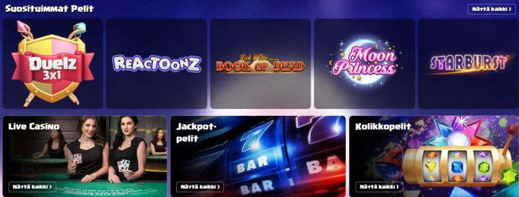 Duelz Casino pelit