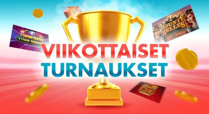 TurboVegas tarjoaa turnauksia