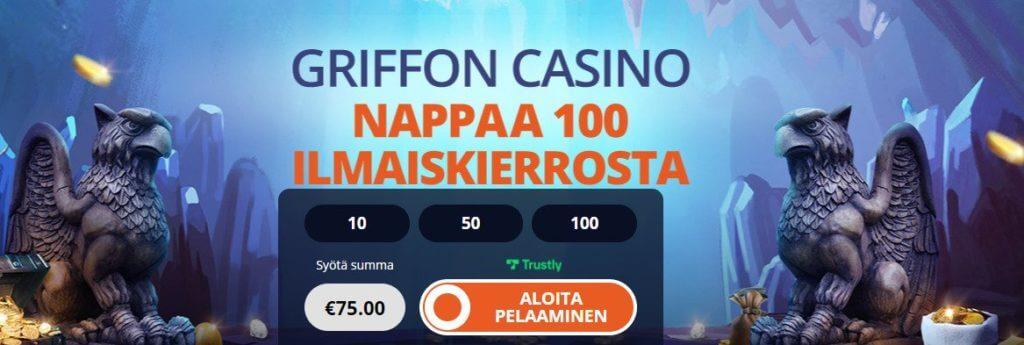 Griffon kasino ilmaiskierroksia ilman kierrätysvaatimuksia