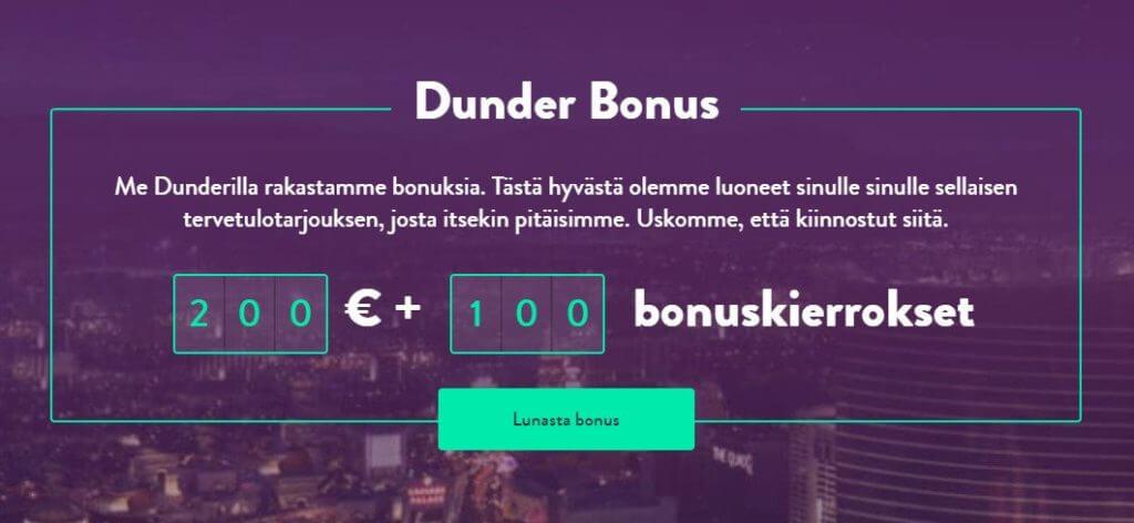 Dunder Casino -parhaat nettikasinot